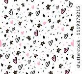 hand drawn seamless pattern... | Shutterstock .eps vector #1119378215