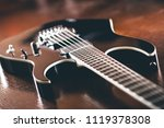 black electric guirar on the... | Shutterstock . vector #1119378308