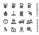 gas station icon set | Shutterstock .eps vector #1119381992