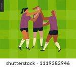 womens european football ... | Shutterstock .eps vector #1119382946