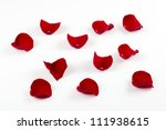 Stock photo rose petals isolated on white 111938615