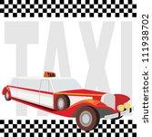 vintage retro car against the... | Shutterstock . vector #111938702
