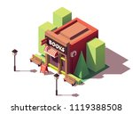 vector isometric bookshop with... | Shutterstock .eps vector #1119388508
