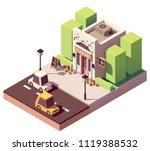 vector isometric flower shop or ...   Shutterstock .eps vector #1119388532