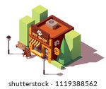 vector isometric pet store with ... | Shutterstock .eps vector #1119388562