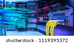 network gigabit switch and... | Shutterstock . vector #1119395372