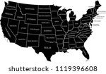 usa map with states labeled... | Shutterstock .eps vector #1119396608