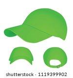 Green Baseball Cap. Vector...