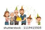 happy family celebrates... | Shutterstock .eps vector #1119415505