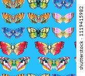 butterfly watercolor... | Shutterstock . vector #1119415982