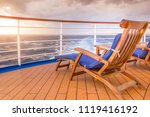 Empty Chair On A Ship In The...