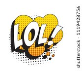 abbreviation lol   laugh out... | Shutterstock .eps vector #1119428756