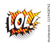 abbreviation lol   laugh out... | Shutterstock .eps vector #1119428762