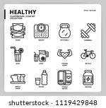 healthy icon set | Shutterstock .eps vector #1119429848