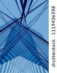 transparent modern architecture....   Shutterstock . vector #1119436598
