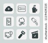 premium set of outline  fill... | Shutterstock .eps vector #1119439235