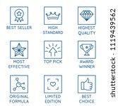 vector set of design elements ...   Shutterstock .eps vector #1119439562