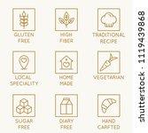 vector set of design elements ...   Shutterstock .eps vector #1119439868