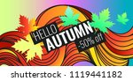 autumn discounts  background... | Shutterstock .eps vector #1119441182