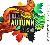 autumn discounts  background... | Shutterstock .eps vector #1119441188
