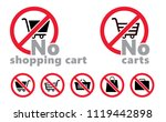 forbidden forbid sign symbool... | Shutterstock .eps vector #1119442898