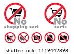 forbidden forbid sign symbool... | Shutterstock .eps vector #1119442898