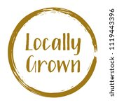 brown locally grown food icon ... | Shutterstock .eps vector #1119443396