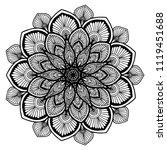 mandalas for coloring  book.... | Shutterstock .eps vector #1119451688