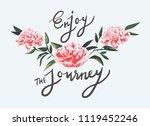 enjoy the journey slogan with... | Shutterstock .eps vector #1119452246
