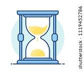 line art icons. hourglass... | Shutterstock .eps vector #1119452786