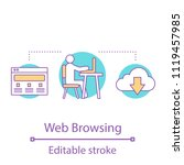 internet surfing concept icon.... | Shutterstock .eps vector #1119457985