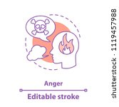 anger concept icon. wrath.... | Shutterstock .eps vector #1119457988