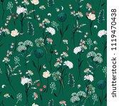 trendy summer meadow flowers ... | Shutterstock .eps vector #1119470438