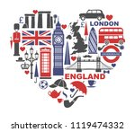 england  london  uk. collection ... | Shutterstock .eps vector #1119474332