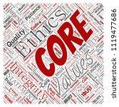 vector conceptual core values...   Shutterstock .eps vector #1119477686