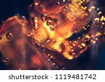 background of cola with ice and ... | Shutterstock . vector #1119481742