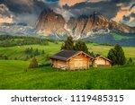 alpe di siusi   seiser alm with ... | Shutterstock . vector #1119485315
