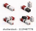 3d rendering blank boxes... | Shutterstock . vector #1119487778