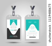 id card with lanyard set... | Shutterstock .eps vector #1119488675