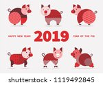 pig is a symbol of the 2019... | Shutterstock .eps vector #1119492845