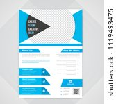flyer design. business brochure ... | Shutterstock .eps vector #1119493475