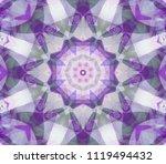 seamless kaleidoscope violet... | Shutterstock . vector #1119494432