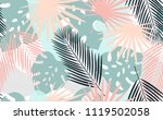 seamless tropical pattern.... | Shutterstock .eps vector #1119502058
