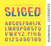 sliced font or typeface....   Shutterstock .eps vector #1119504215