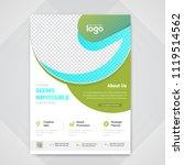 creative flyer design. modern... | Shutterstock .eps vector #1119514562