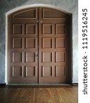 brown wooden vintage paneled...   Shutterstock . vector #1119516245