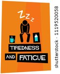 tiredness and fatigue retro... | Shutterstock .eps vector #1119520058