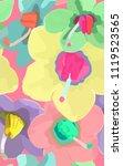 persian violet flower pastel... | Shutterstock .eps vector #1119523565