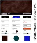 dark blue  red vector ui ux kit ...