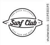 vintage surfing emblem for web... | Shutterstock .eps vector #1119530195